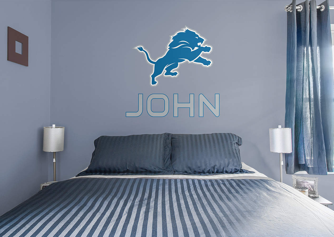 Detroit Lions Stacked Personalized Name Wall Decal Shop