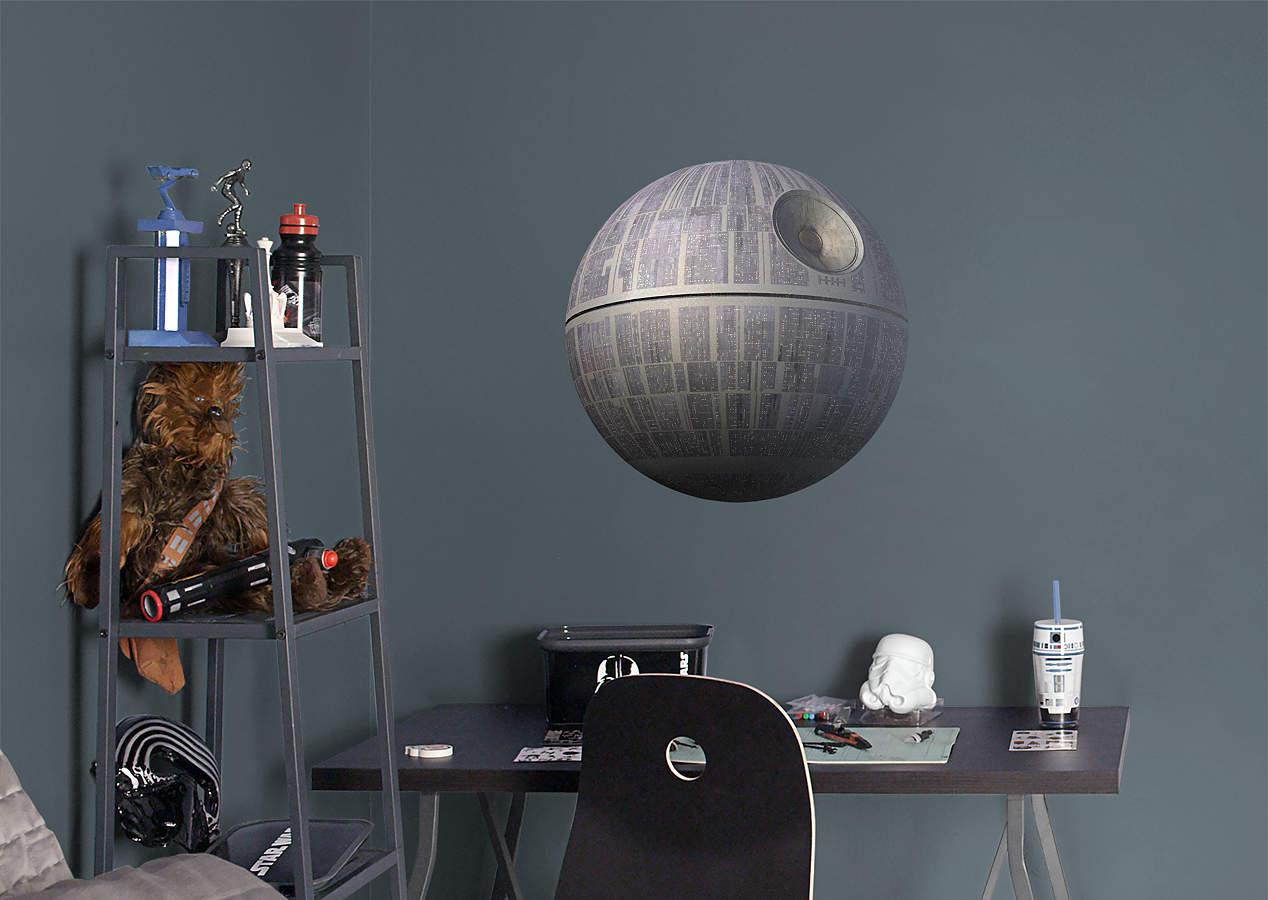Death star fathead jr wall decal shop fathead for for Death star wall mural