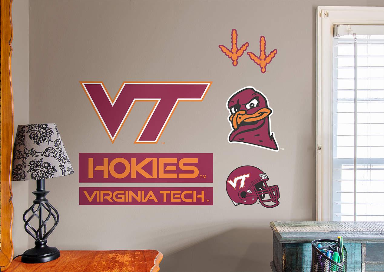 Virginia tech hokies logo assortment wall decal shop for Beaver stadium wall mural
