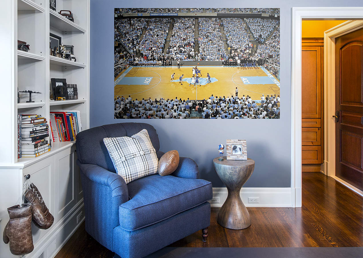 North Carolina Basketball Mural Dean E Smith Center Wall Decal Shop Fathead For North