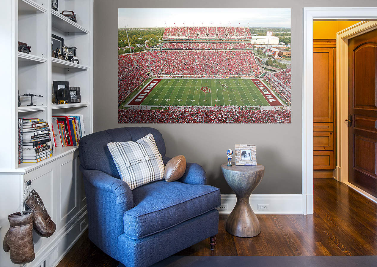 Oklahoma sooners gaylord family oklahoma memorial for Beaver stadium wall mural