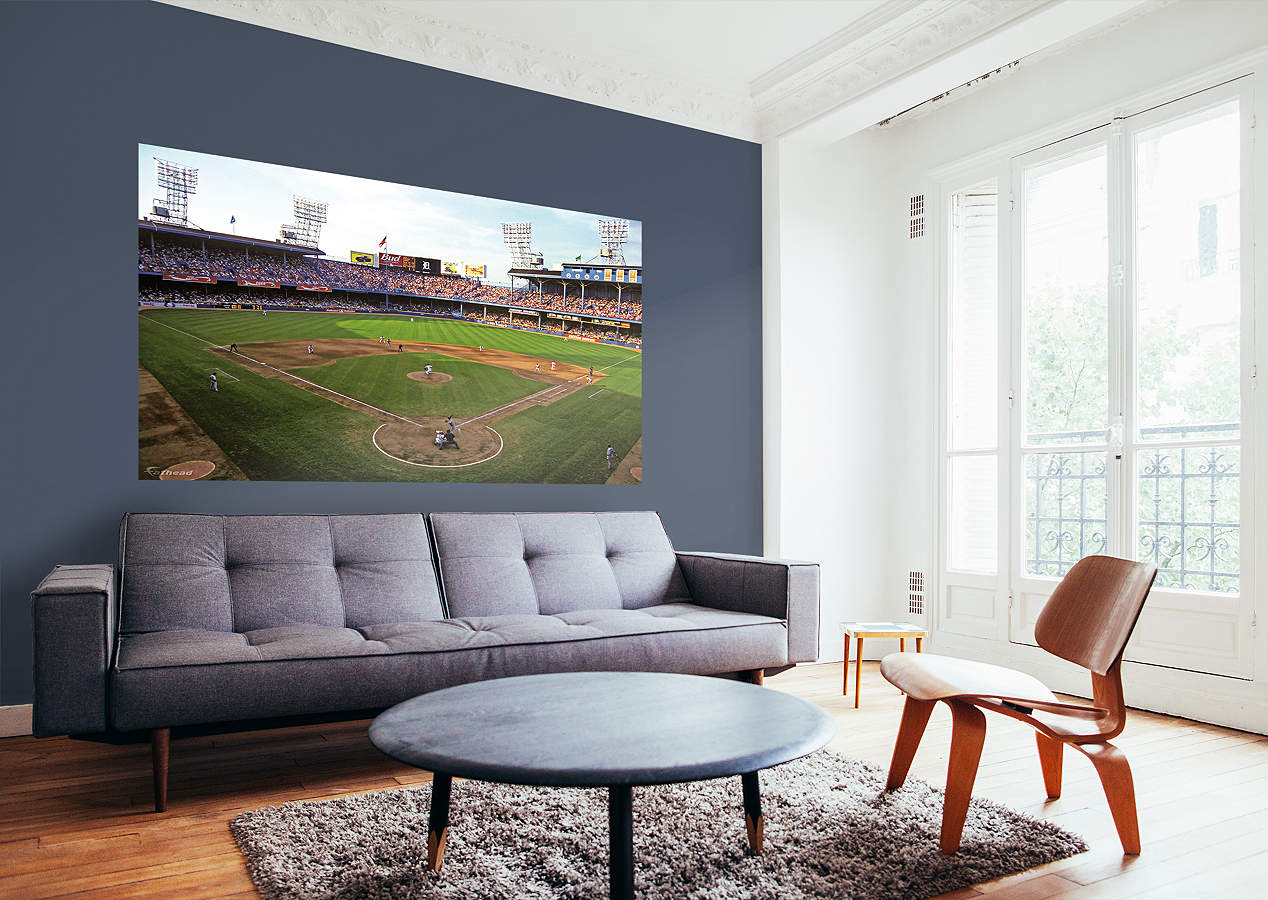 Inside tiger stadium mural wall decal shop fathead for for Comerica park wall mural