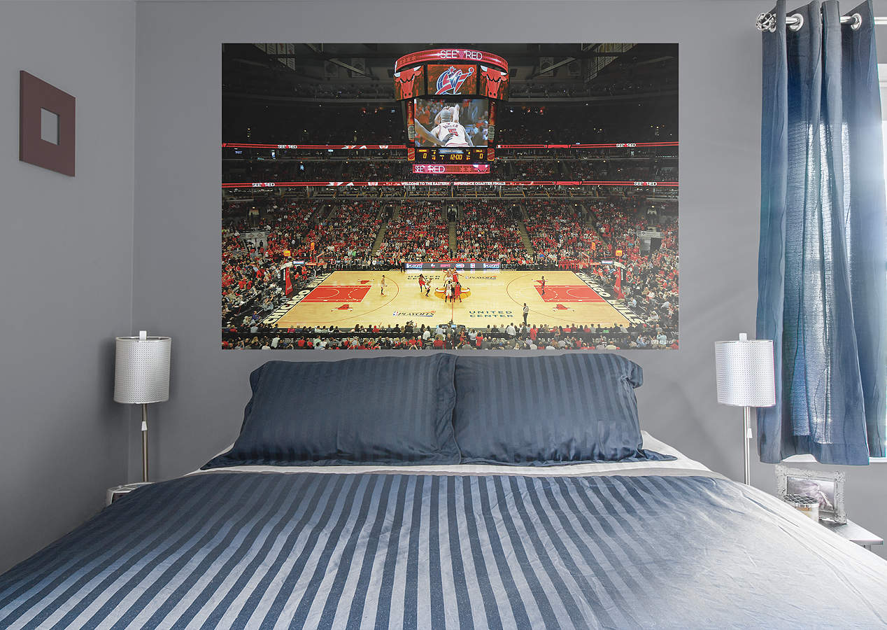 chicago bulls arena mural wall decal shop fathead for