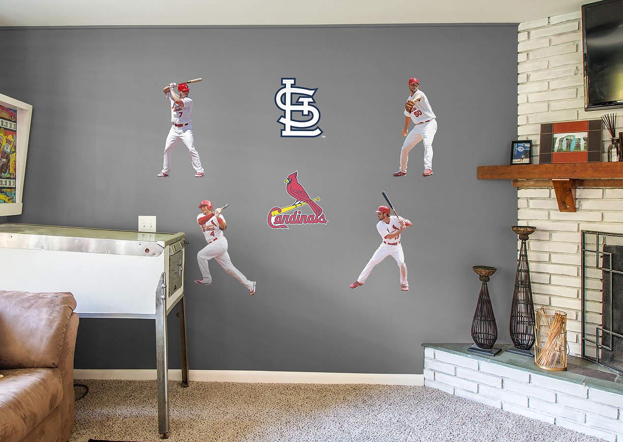 st louis cardinals power pack wall decal set shop. Black Bedroom Furniture Sets. Home Design Ideas