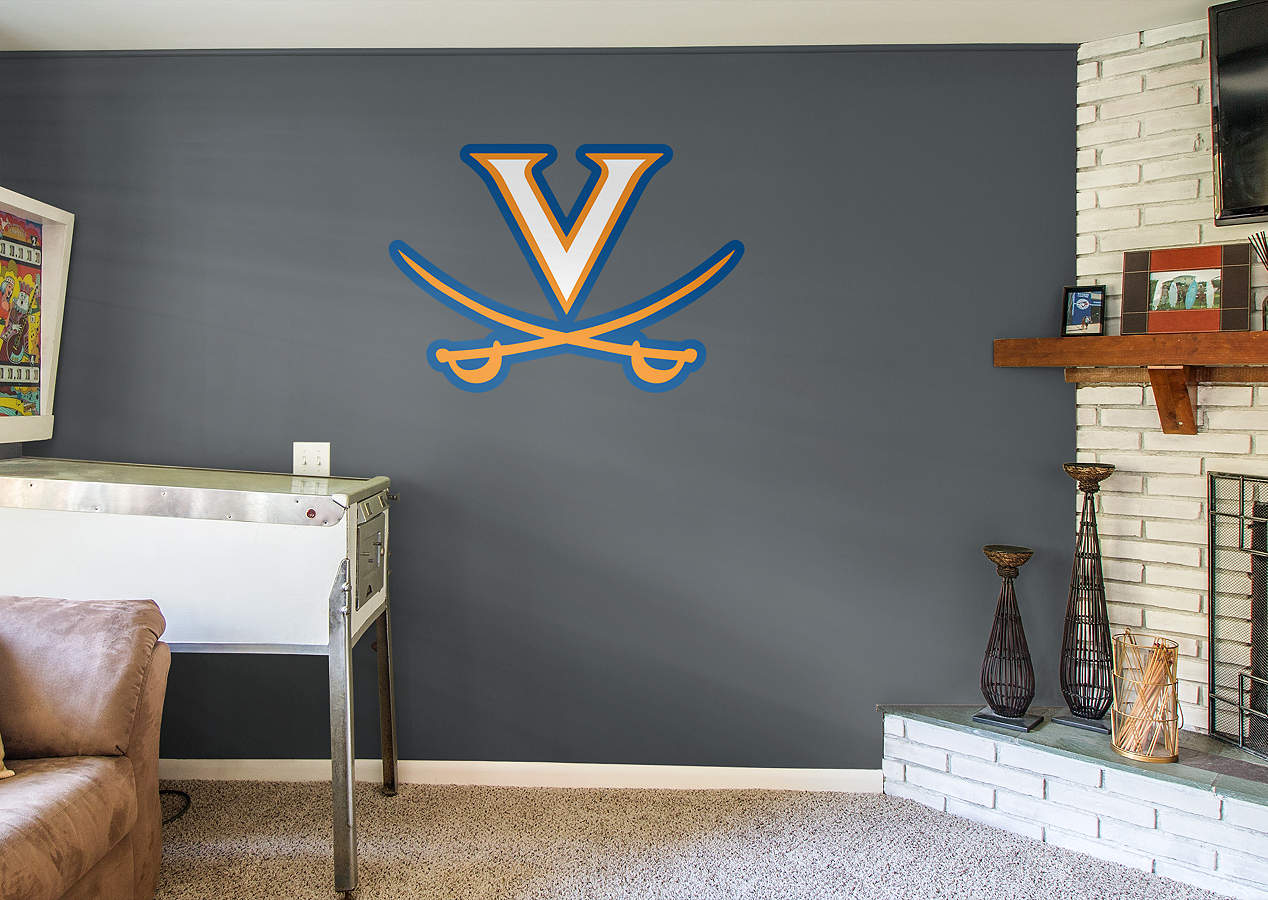 Virginia cavaliers logo wall decal shop fathead for for Beaver stadium wall mural
