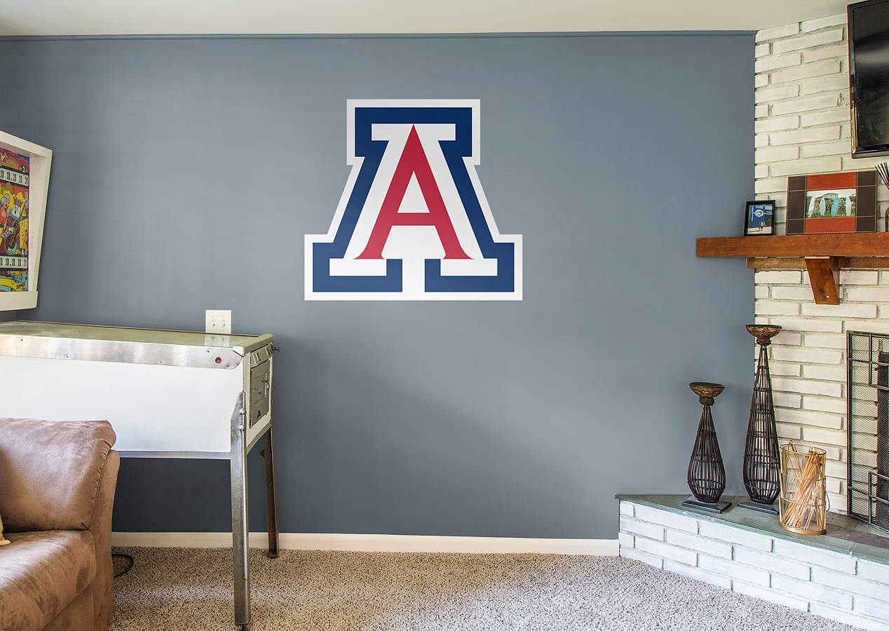 Arizona wildcats logo wall decal shop fathead for for Beaver stadium wall mural