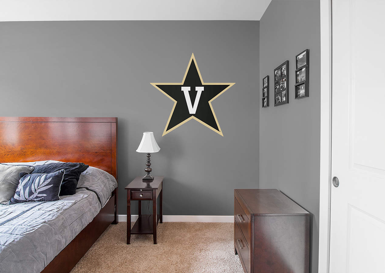 Vanderbilt commodores logo wall decal shop fathead for for Beaver stadium wall mural