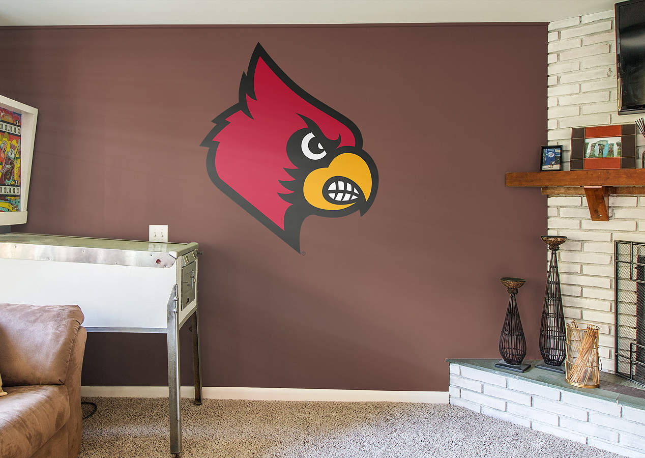 Louisville logo wall decal shop fathead for louisville for Beaver stadium wall mural