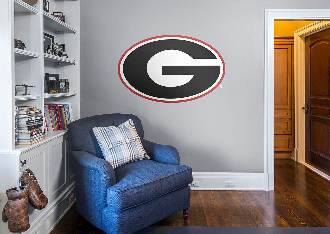 Georgia bulldogs logo wall decal shop fathead for for International decor outlet georgia