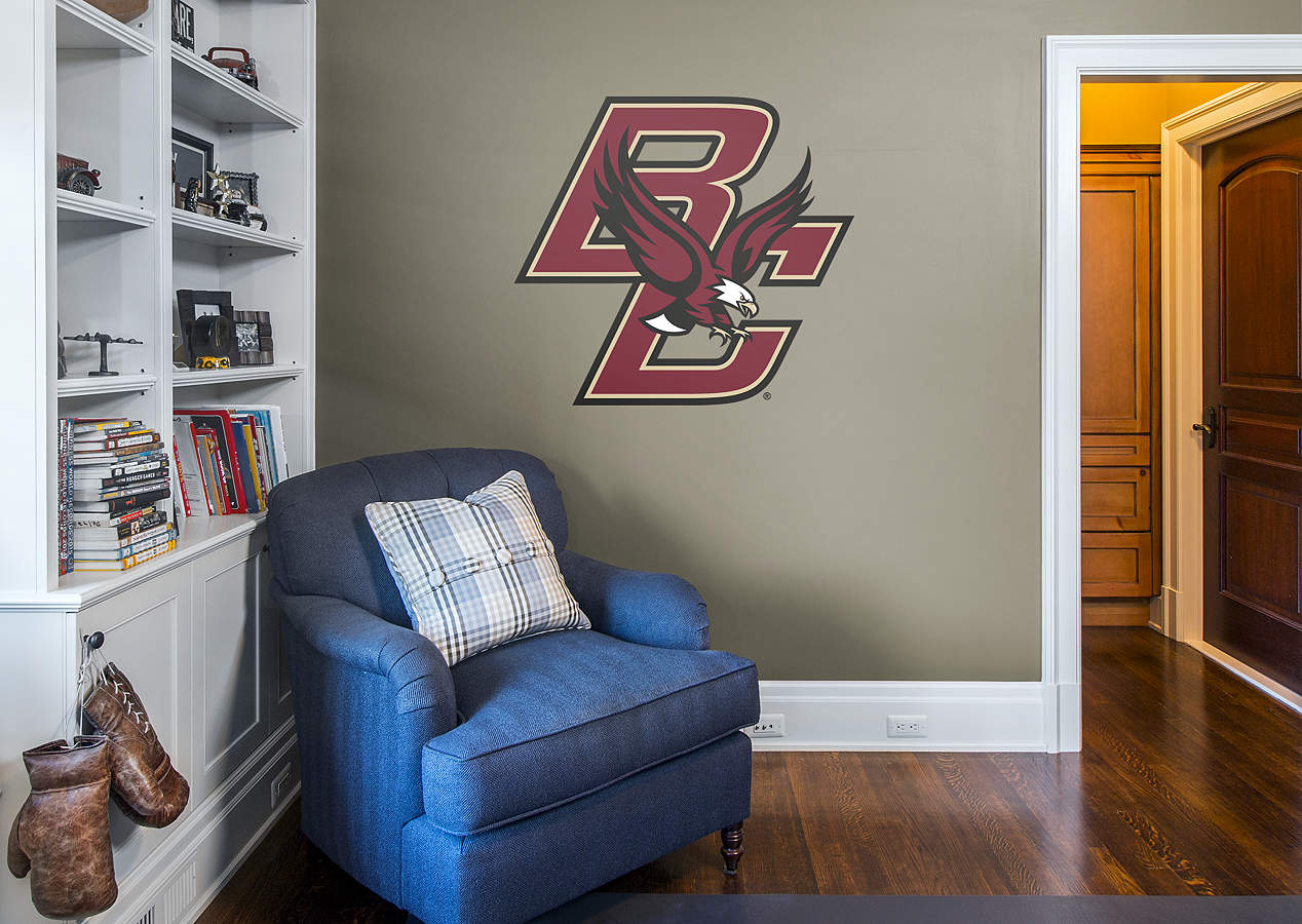 Boston college eagles logo wall decal shop fathead for for Beaver stadium wall mural