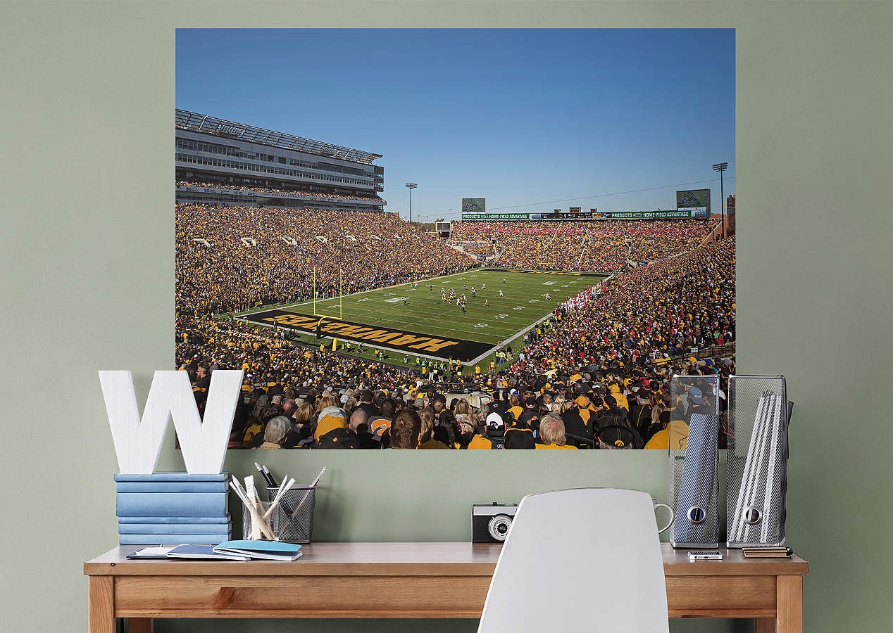 Iowa hawkeyes stadium mural wall decal shop fathead for for Iowa hawkeye decor