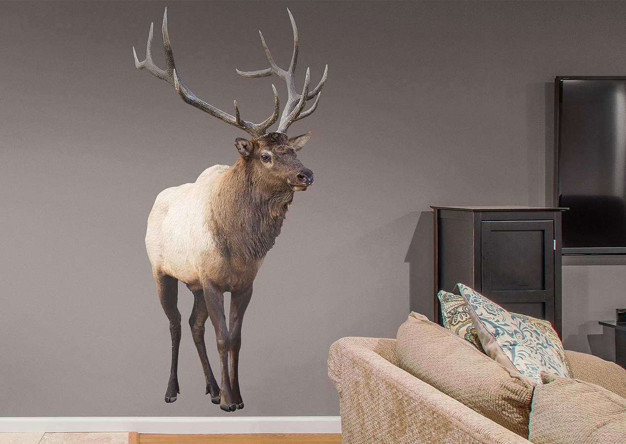 Elk Wall Decal Shop Fathead 174 For General Animal Graphics