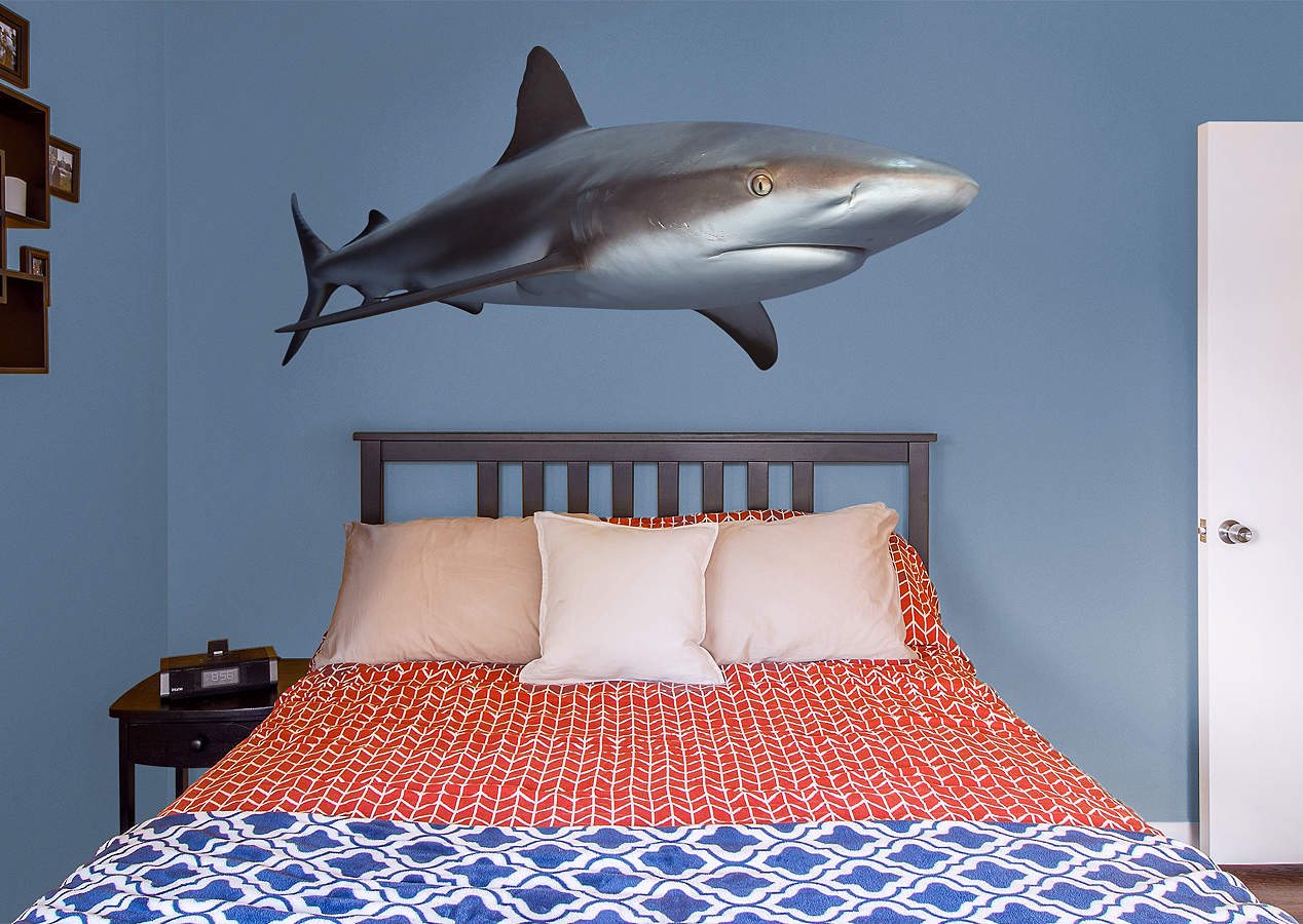 reef shark wall decal shop fathead for general animal graphics decor. Black Bedroom Furniture Sets. Home Design Ideas