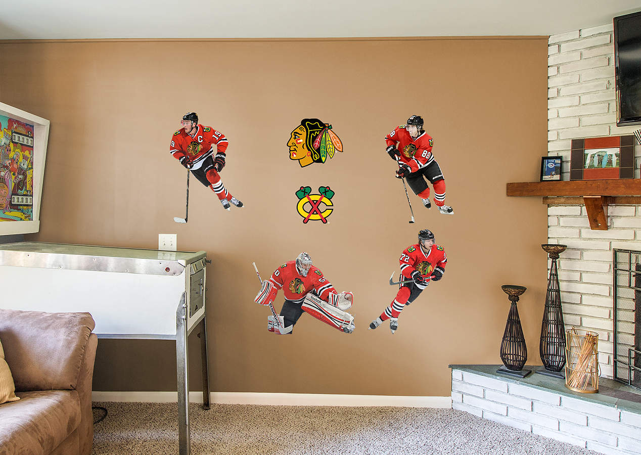 Chicago blackhawks power pack wall decal set shop for Chicago blackhawk bedroom ideas