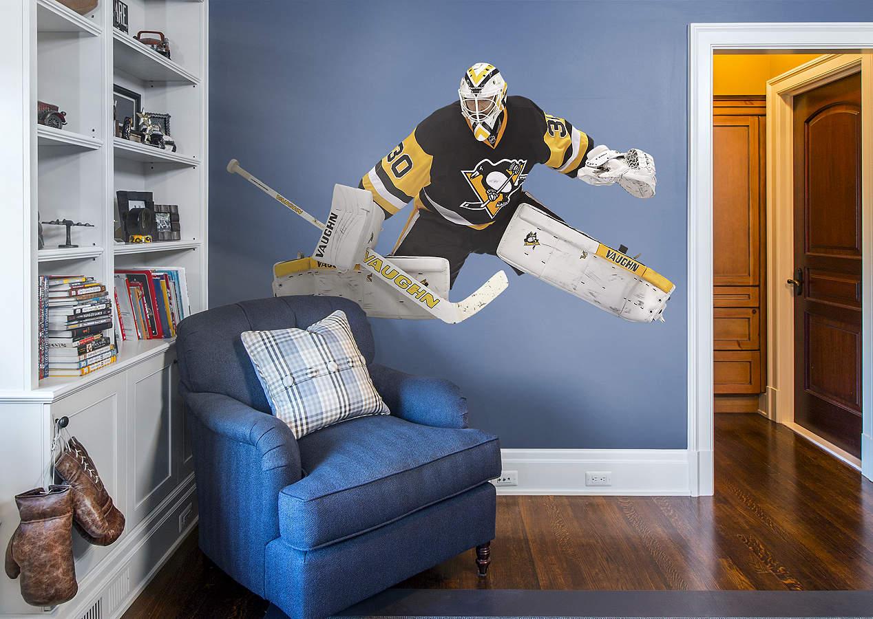 Life size matt murray fathead wall decal shop pittsburgh for Chicago blackhawk bedroom ideas