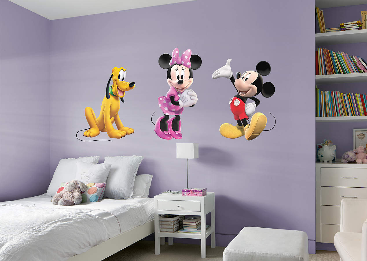 Mickey, Minnie & Pluto Wall Decal | Shop Fathead® for ...