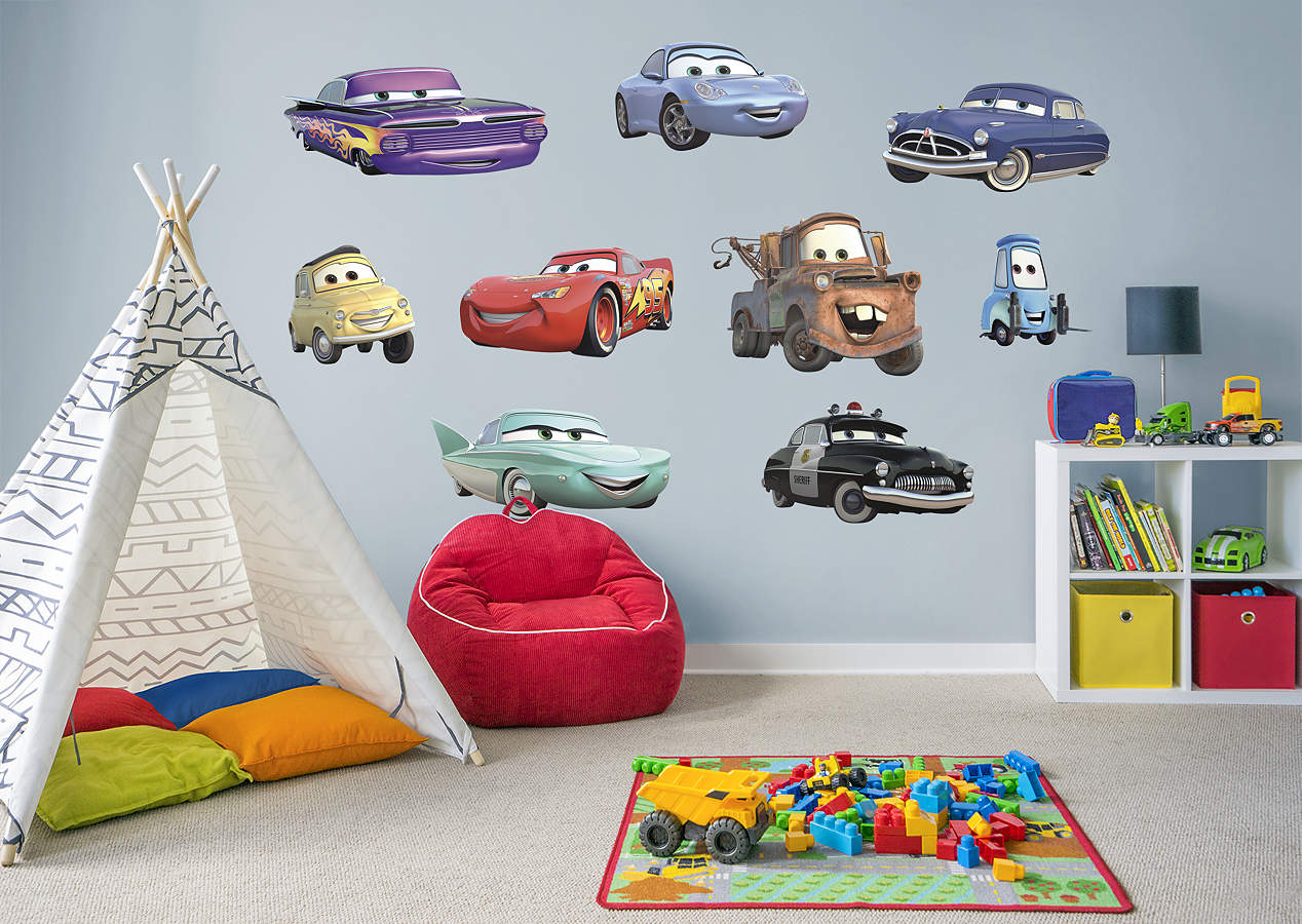 Disney pixar cars collection wall decal shop fathead for Cars 2 wall mural