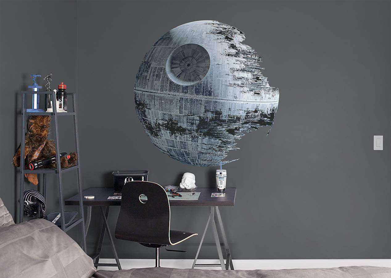 Death star wall decal shop fathead for star wars movies for Star wars dekoration