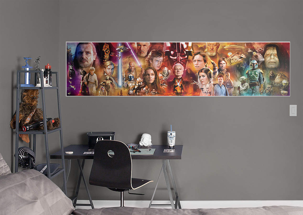 Star wars movie mural wall decal shop fathead for star for Mural film