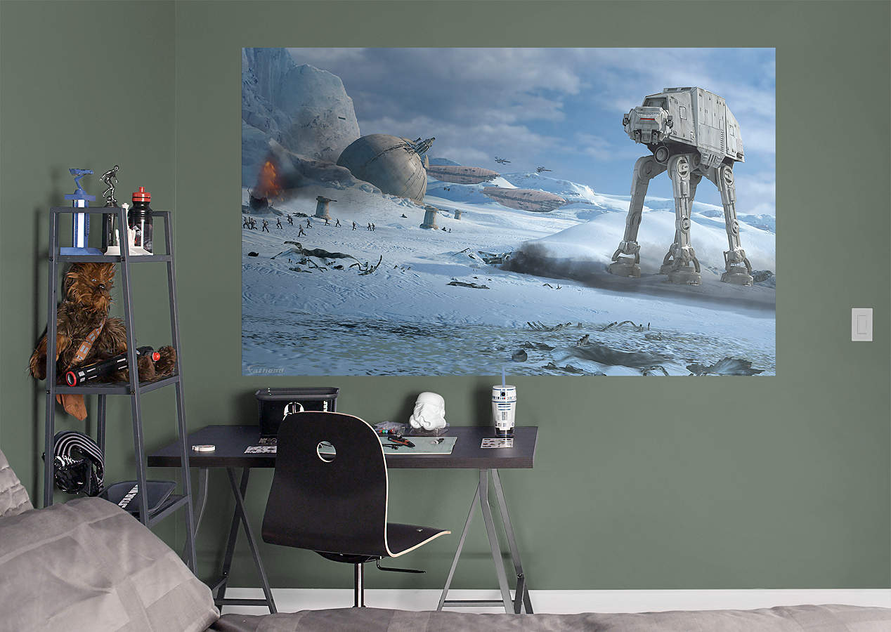 Battle Of Hoth Mural Wall Decal Shop Fathead For Star