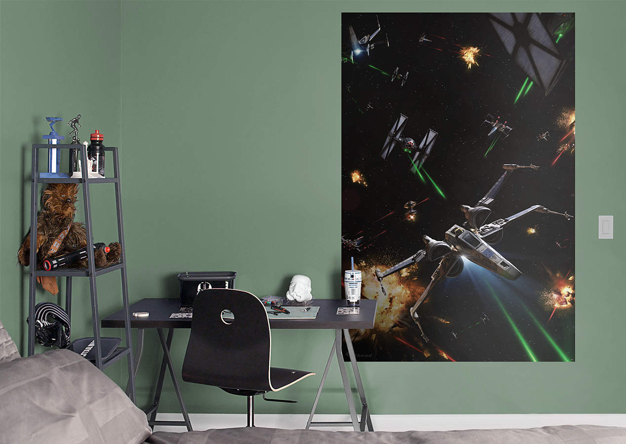 Space Battle Mural-Star Wars: The Force Awakens Wall Decal