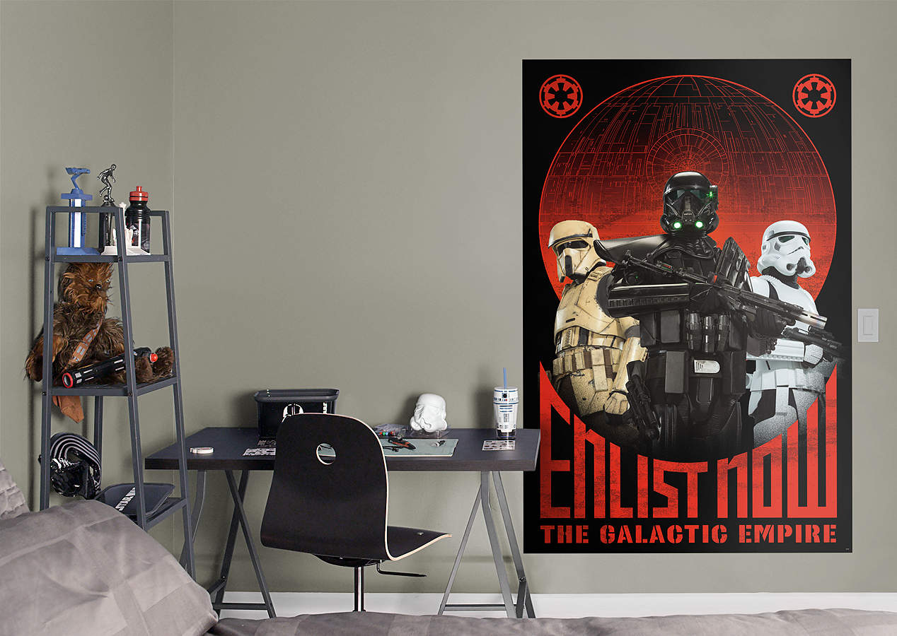 Star wars rogue one propaganda mural wall decal shop for Mural star wars