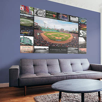 Boston red sox fathead wall decals more shop mlb fathead for Boston wall mural