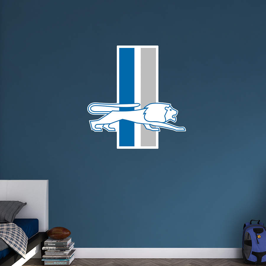 Detroit Lions Classic Logo Wall Decal Shop Fathead 174 For