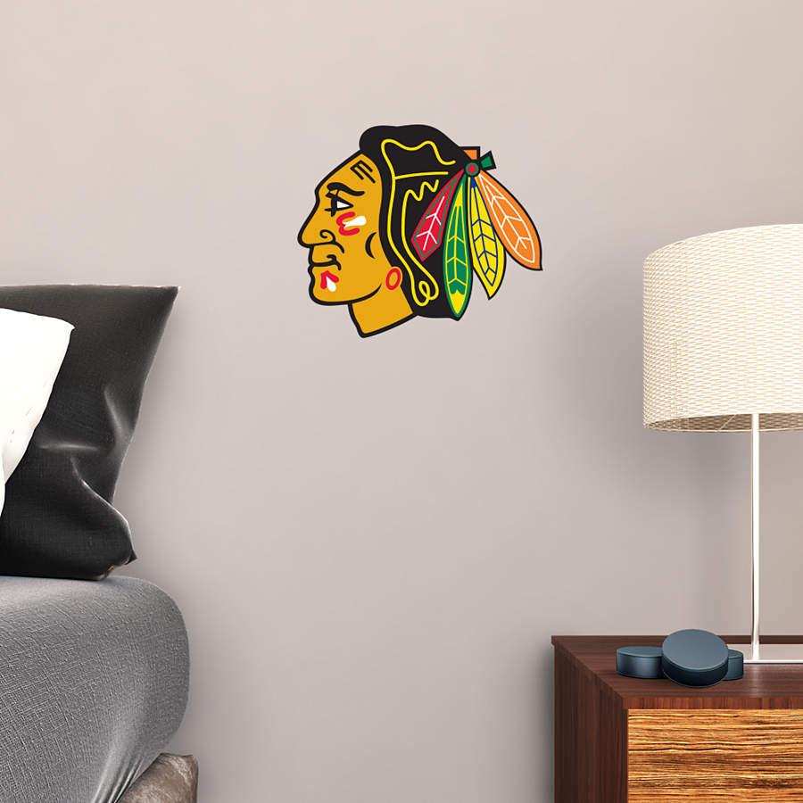 Small chicago blackhawks teammate decal shop fathead for Chicago blackhawk bedroom ideas