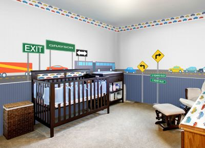 Transportation Themed Complete Nursery Bundle