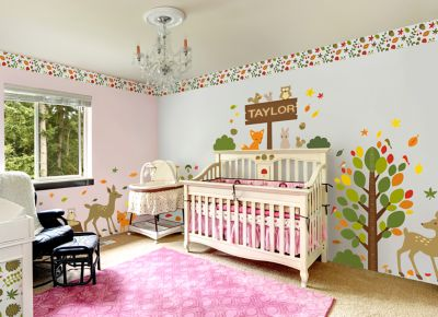 Woodland Themed Complete Nursery Bundle