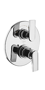 "½"" Thermostatic Trim With Diverter And Volume Control 6069100PC"