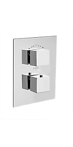 "1/2"" Thermostatic Trim With Diverter And Volume Control 84691SQPC"