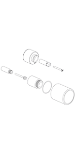 """Extention kit for 1/2"""" Thermo 1 outlet, volume control EX69078PC"""