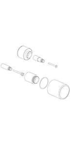 """Extention kit for 1/2"""" Thermo 1 outlet, vol ctrl EX69089PC"""
