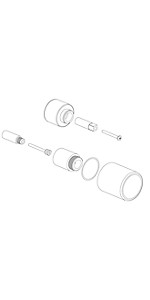"""Extention kit for 1/2"""" Thermo 1 outlet, vol ctrl EX69178PC"""