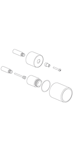 """Extention kit for 1/2"""" Thermo 2 outlet, vol ctrl & diverter EX69189PC"""