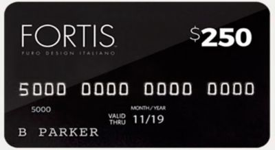 An example gift card