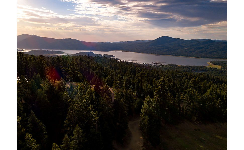 View of Big Bear Lake. Location of 2019 Fox US Open of MTB
