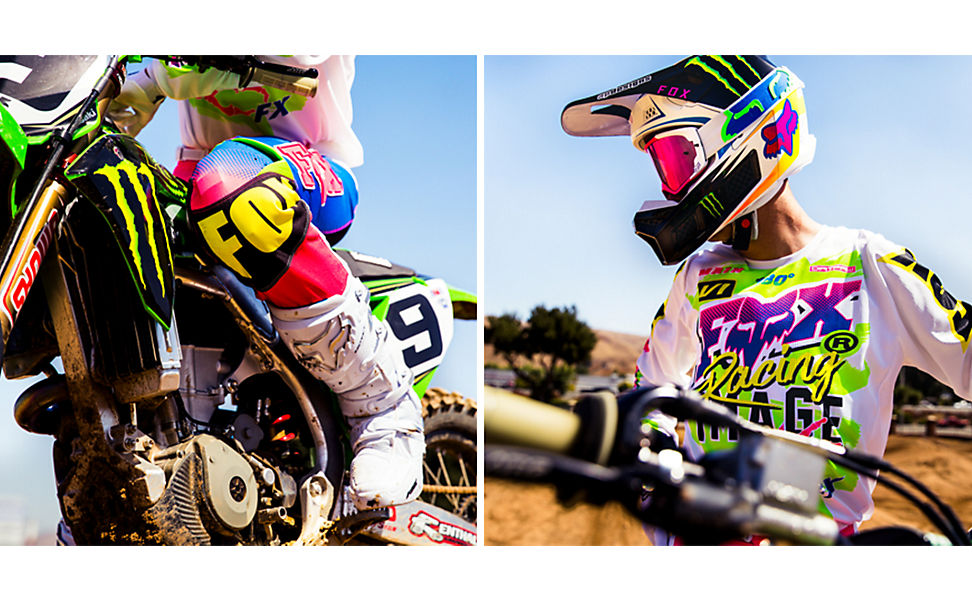 Adam Cianciarulo wearing the limited edition Castr gear set.