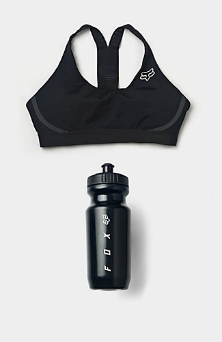 sports bra and water bottle
