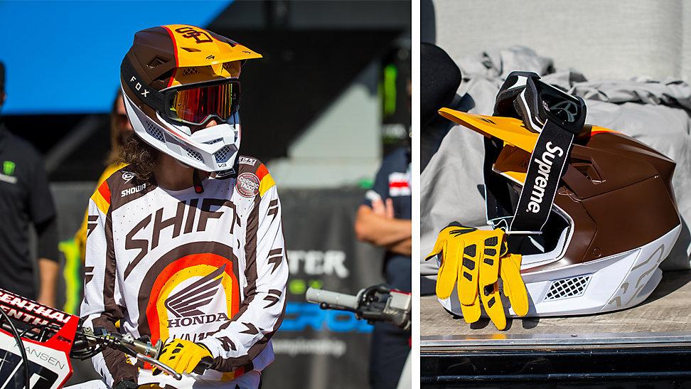 Josh Hansen in him limited edition San Diego Padres motocross gear set