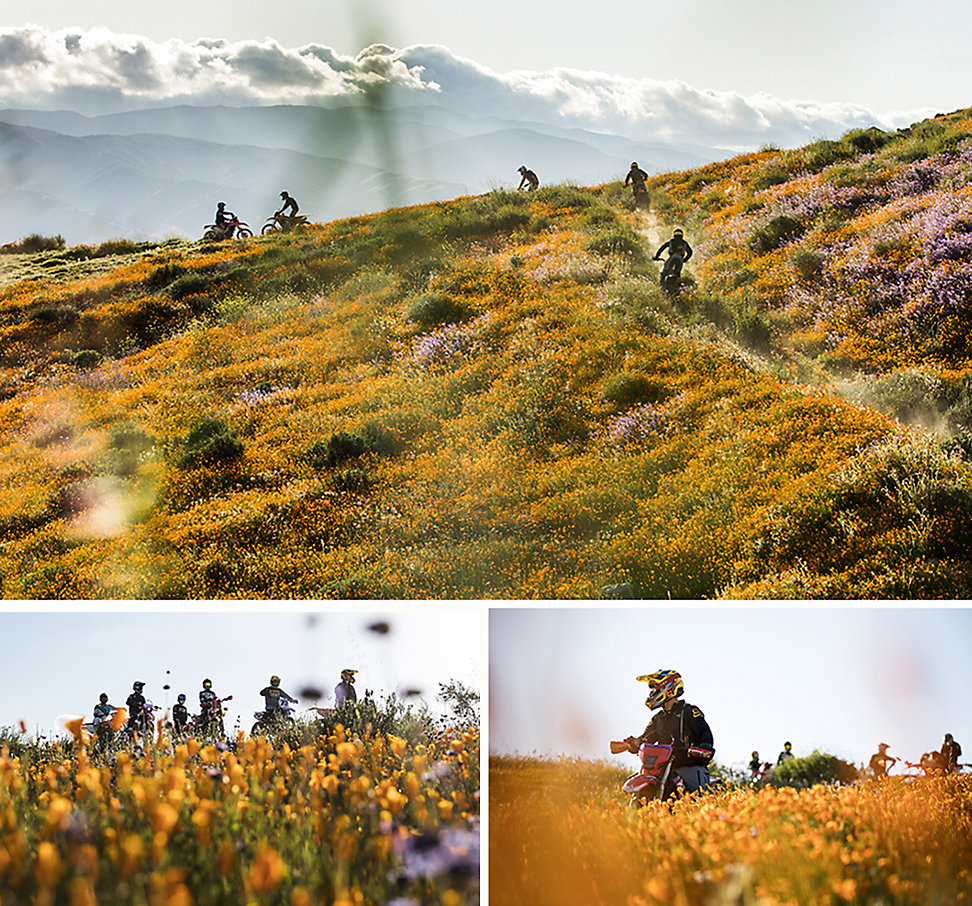 Photo of dirt bikers riding in the hills