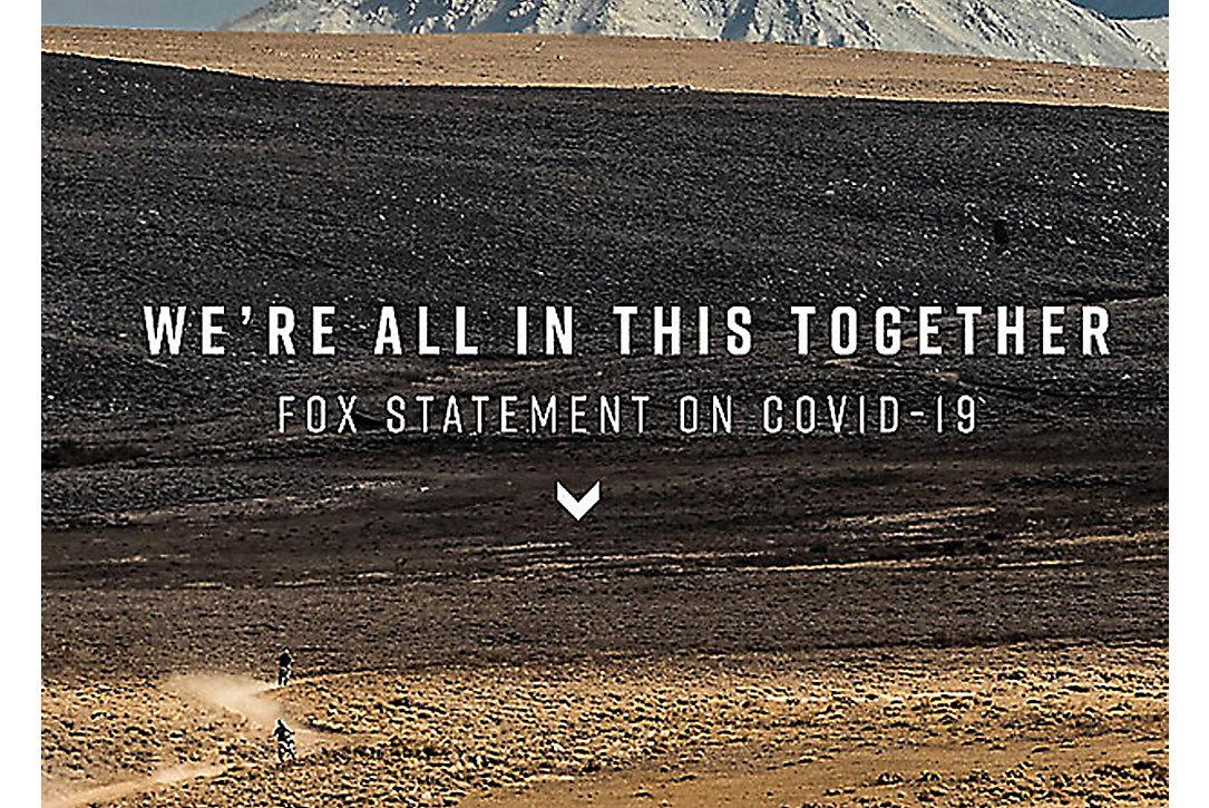 AN UPDATE FROM FOX RACING