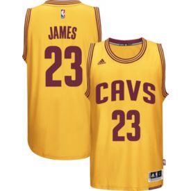 031e1ceb1f7 adidas Men s Cleveland Cavaliers LeBron James  23 Alternate Gold Swingman  Jersey
