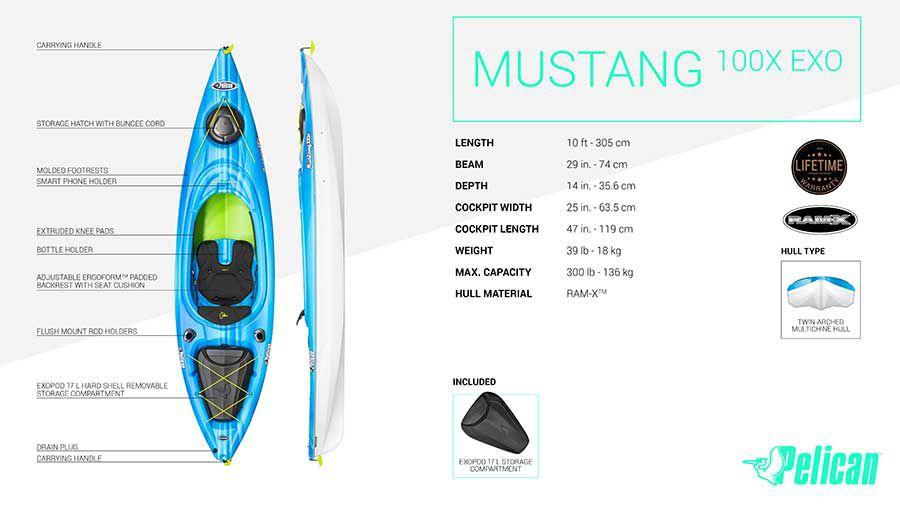 Pelican Mustang 100X Kayak