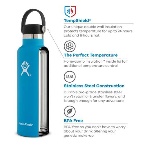 Hydro Flask Standard Mouth 21 oz  Bottle with Flex Cap