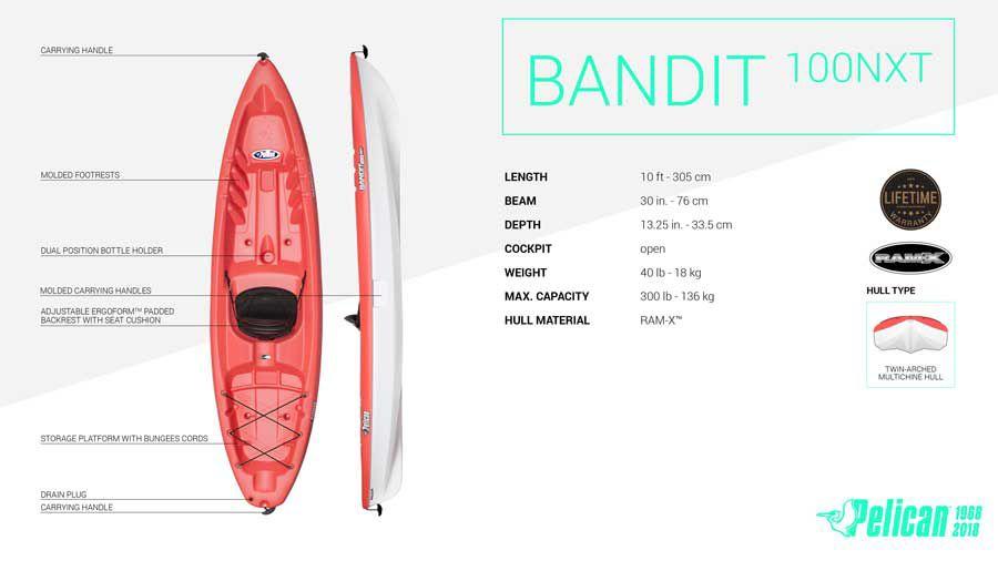 pelican bandit kayak buy online pick up in store at dick 39 s. Black Bedroom Furniture Sets. Home Design Ideas