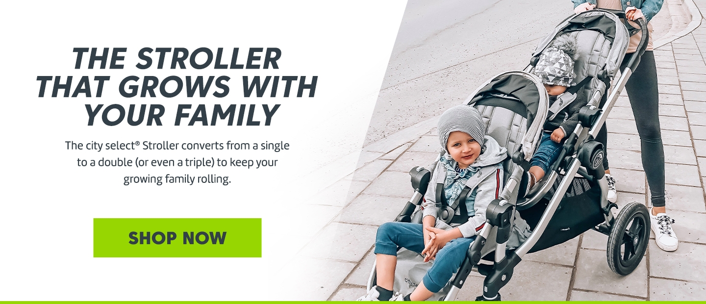 The stroller that grows with your family
