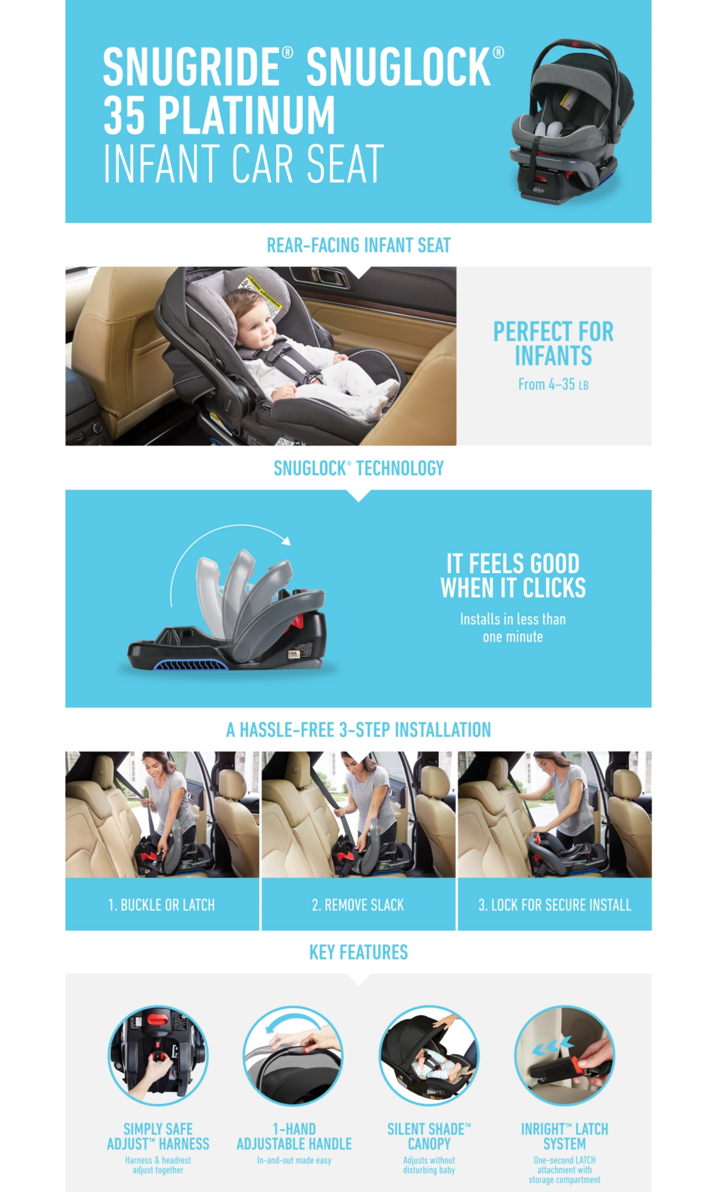 SnugRide Snuglock 35 Platinum Infant CarSeat